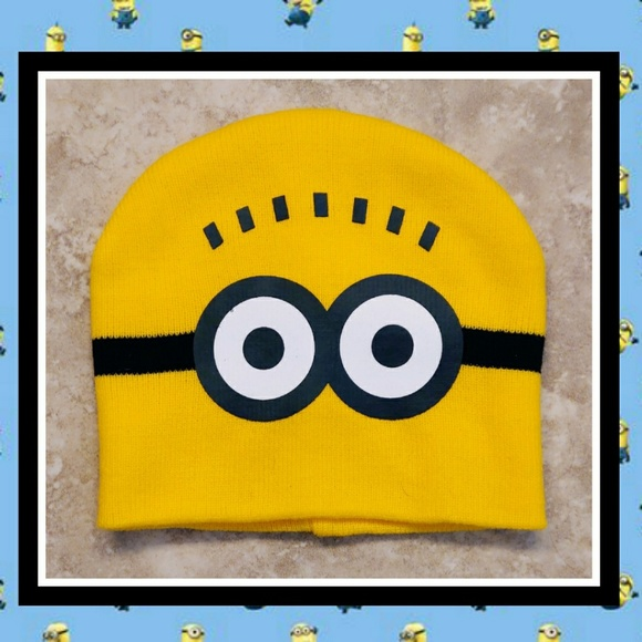 42ad9d406c6 NWOT DESPICABLE ME Minion Knit Beanie Hat